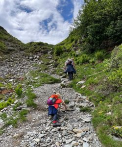 steile klim naar de top